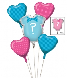 """Little Man or Little Miss""  5 in 1 super ballonnen pakket"