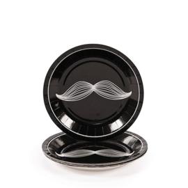 """""""Mustache Party""""  gebak bordjes"""