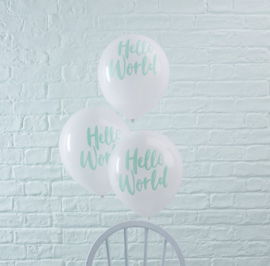 """Hello World"" ballonnen"