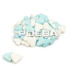 Blauw/witte pepermunt hartjes per kilo zak