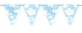 """Little Cloud Babyshower"" Blue vlaggenlijn"