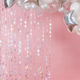 Zilveren Sterretjes Gordijn (Backdrop)