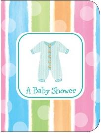 """Babyclothes Babyshower"" uitnodigingen"