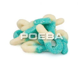 Baby snoep speentjes blauw/wit - 250 gram