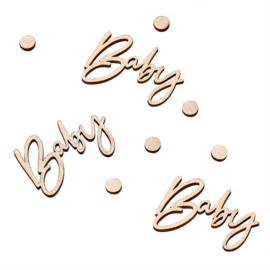 """Botanical Baby"" Houten Confetti"