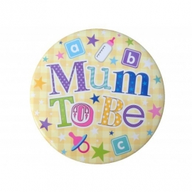 """Mum To Be"" XL Badge"