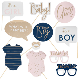 """My Gender Reveal Party"" Photo Props"