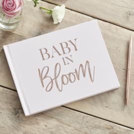 """""""Baby in Bloom"""" gastenboek met harde kaft"""