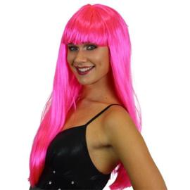 Gender Reveal pruik Roze dames