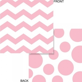 """Baby Pink Polkadot & Chevron lunch servetten"""