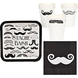 """Mustache Party"" drinkbekers"