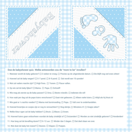 """Babyshower Blue"" quiz servetten"