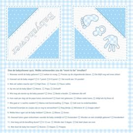 """""""Babyshower Blue"""" quiz servetten"""