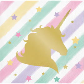 """Unicorn Sparkle"" gebak servetten"