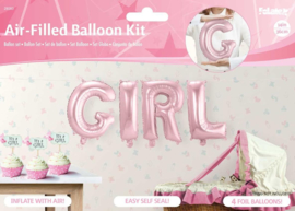 Folie Ballon Girl roze