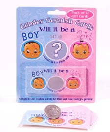 Gender Reveal kraskaartjes Boy/Girl