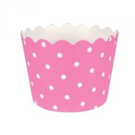 """Baby Pink Polkadot"" Baking Cups"