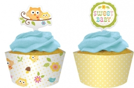 """Happi Tree Babyshower"" cupcake set"