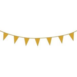 Gouden XL vlaggetjes slinger
