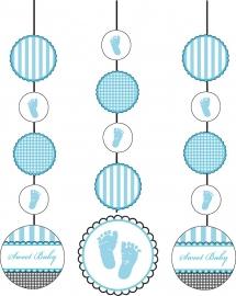 """""""Sweet Baby Feet Blue"""" 3-delige hangslingers"""