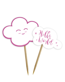 """Little Cloud Babyshower"" Pink prikkers"