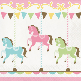 """Carousel Babyshower"""" lunch servetten"