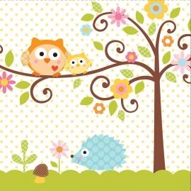 """""""Happi Tree Babyshower"""" lunch servetten"""