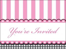 """""""Sweet Baby Feet Pink"""" uitnodigingen"""