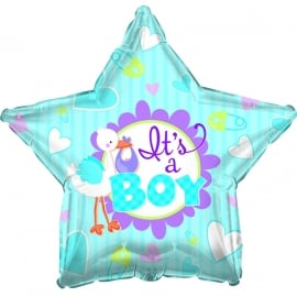 """Its a Boy"" folie ballon ster (leeg)"