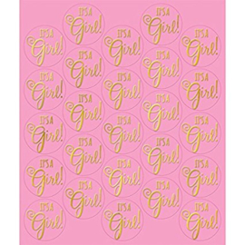 """It's A Girl"" stickers (25 stuks)"