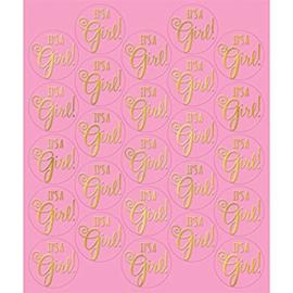 """It's A Girl"" stickers (25 stuks)"