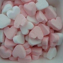 Roze/witte pepermunthartjes per kilo zak