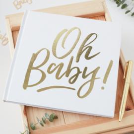 """""""Oh Baby"""" Guest Boek met harde kaft"""