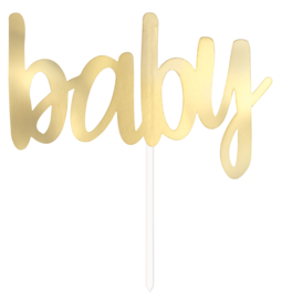 """Baby"" Gold taart topper"