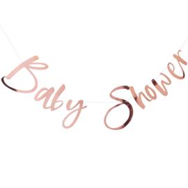 """""""Baby Shower"""" Rosé Gouden slinger"""
