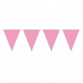 Roze vlaggetjes slinger