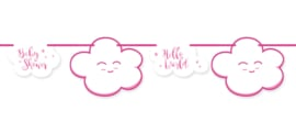 """Little Cloud Babyshower"" Pink slinger"
