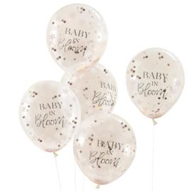 """""""Baby in Bloom"""" confetti gevulde ballonnen"""