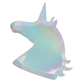 Unicorn shaped XL glitter lunch bordjes