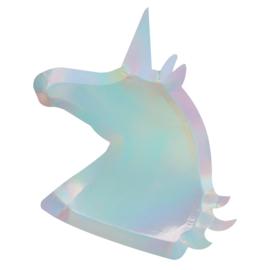 Unicorn shaped XL glitter lunch bordjes