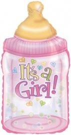 """Babyfles Girl"" Super folie ballon (87 cm!)"