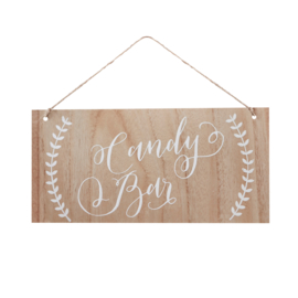 Candy Bar houten bordje in Bohemian Style