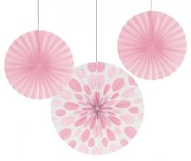 """""""Decoratiebloem Baby Pink & Polkadot, set van 3 stuks"""""""