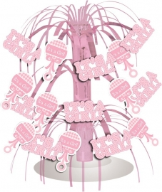"""It`s a Girl Babyshower"" tafelversiering"
