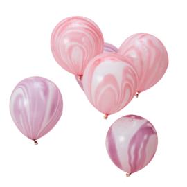 Unicorn roze en pink gekleurde ballonnen (10 stuks)