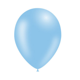 Baby blauwe ballonnen 10 stuks van 12,5 cm