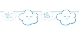 """Little Cloud Babyshower"" Blue slinger"