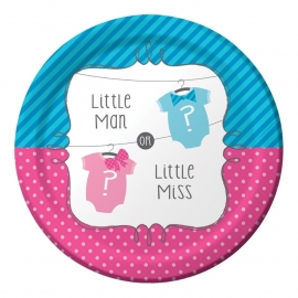 """Little Man or Little Miss"" gebak bordjes"