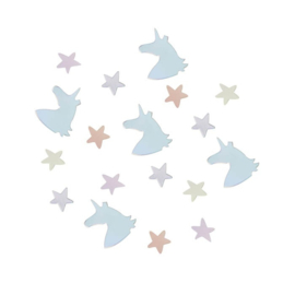 """Unicorn Sparkle Babyshower"" confetti"