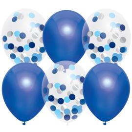 Blue Mix confetti gevulde ballonnen
